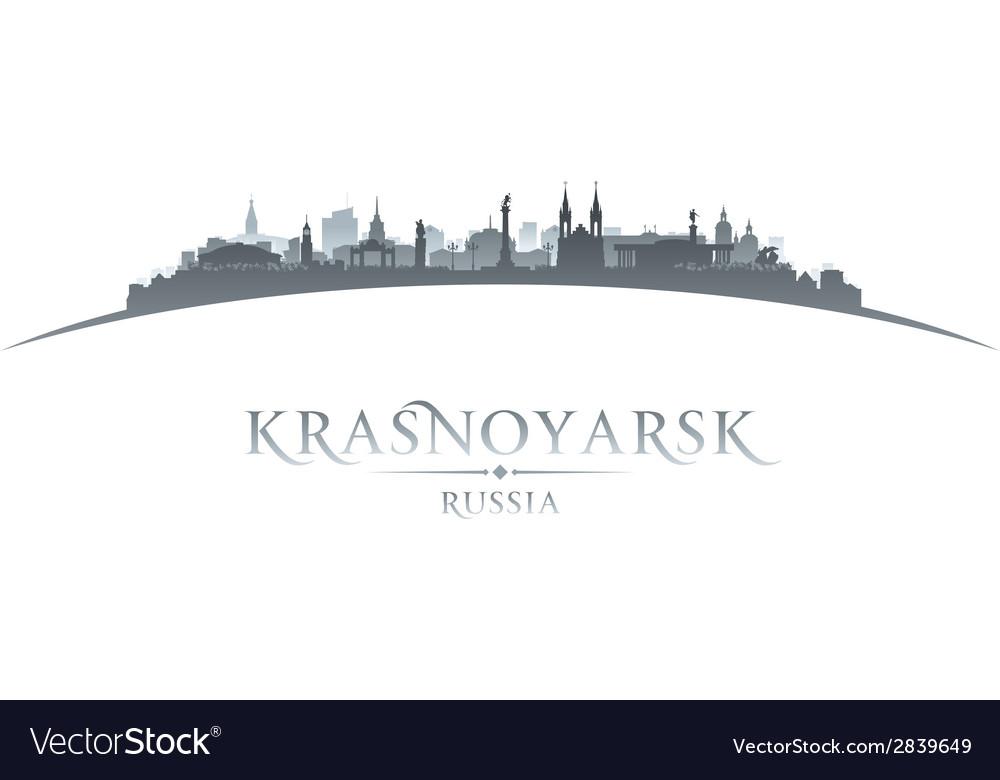 Krasnoyarsk russia city skyline silhouette vector | Price: 1 Credit (USD $1)