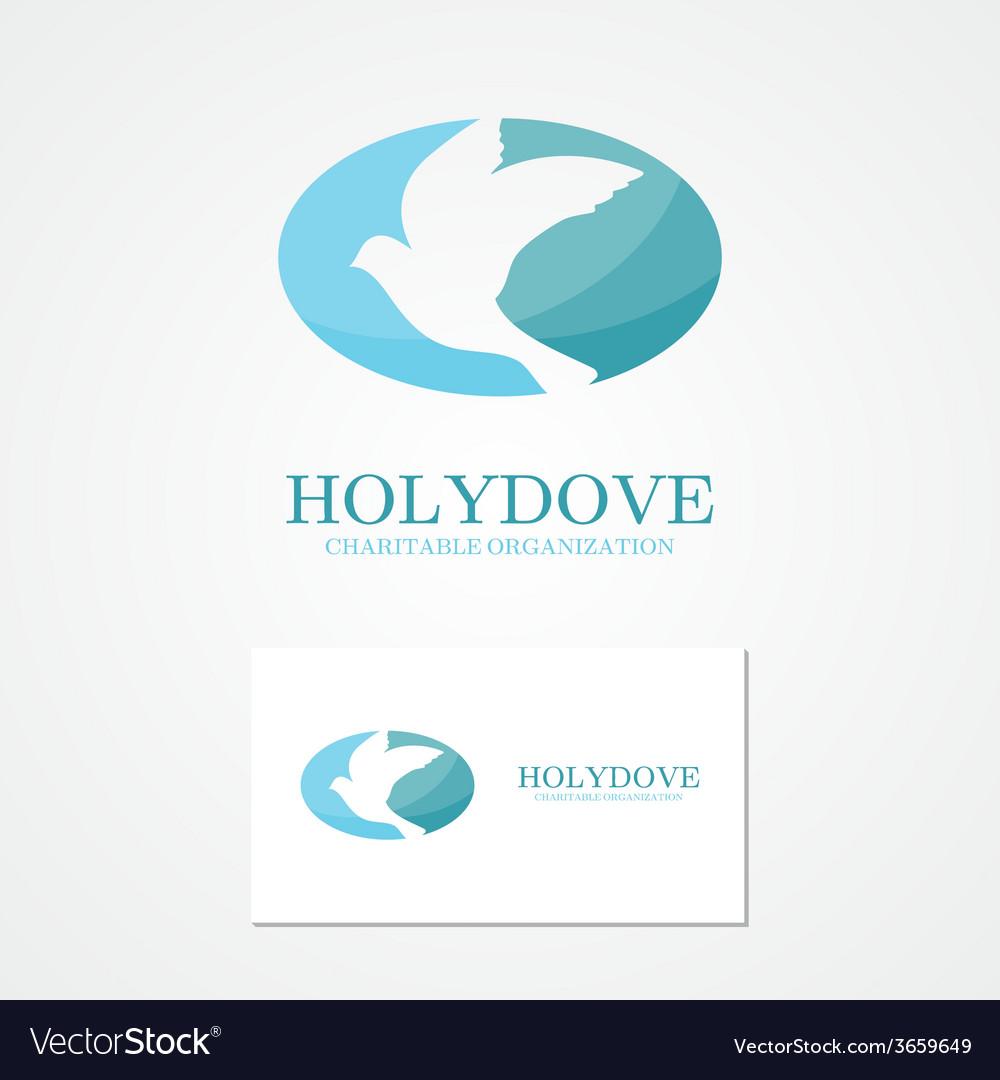 Logo design dove of peace vector | Price: 1 Credit (USD $1)