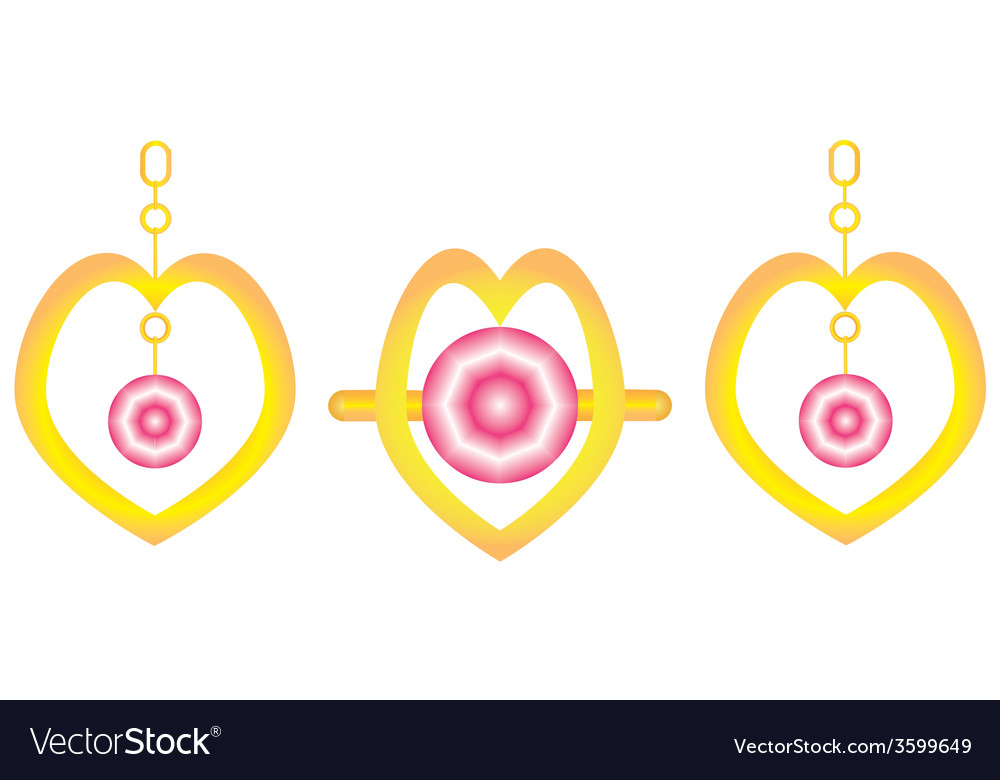 Ring and ear rings vector | Price: 1 Credit (USD $1)
