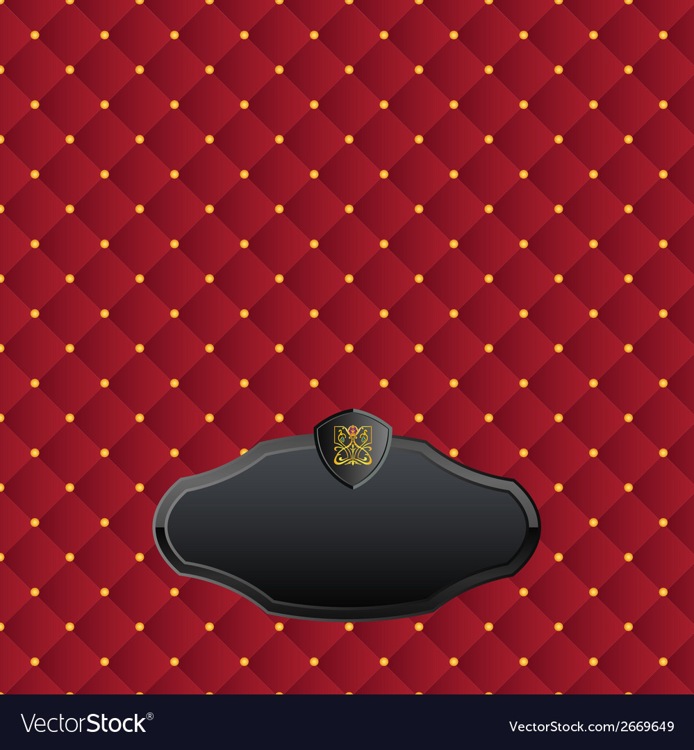 Satin texture of fabric with golden buttons vector | Price: 1 Credit (USD $1)