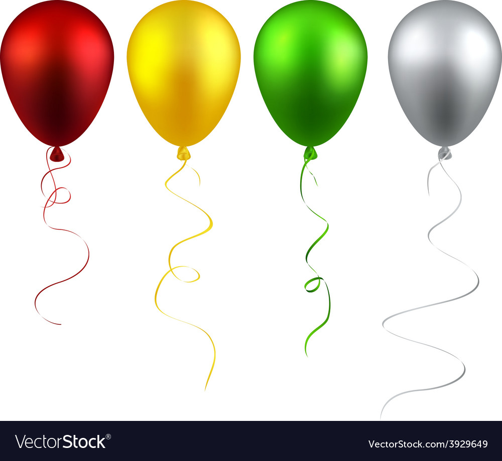 Set of realistic balloons vector | Price: 1 Credit (USD $1)