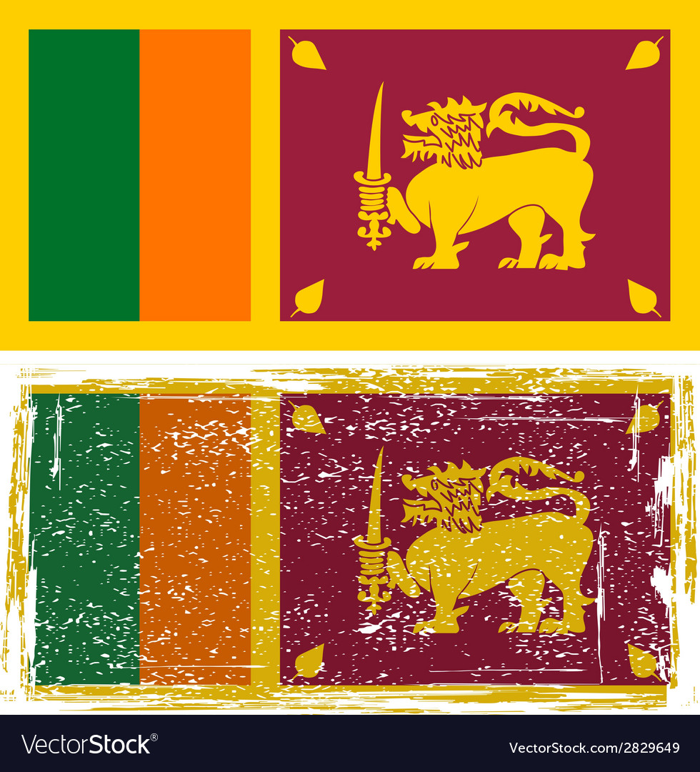 Sri lanka grunge flag  grunge effect can be vector | Price: 1 Credit (USD $1)