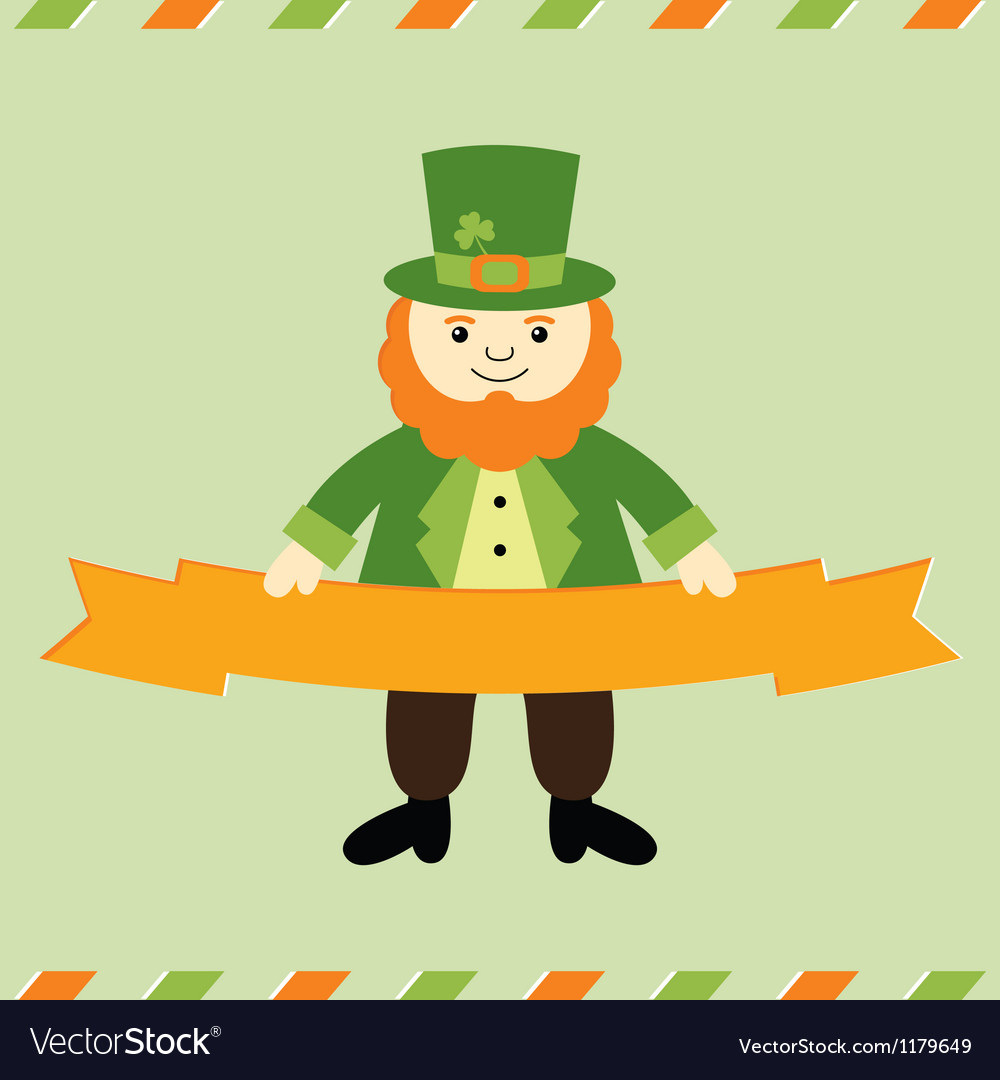 St patricks day leprechaun card vector | Price: 1 Credit (USD $1)
