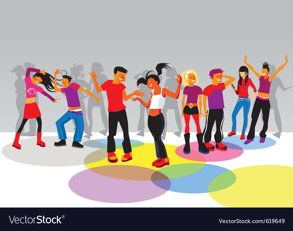 Teenagers dancing vector | Price: 3 Credit (USD $3)