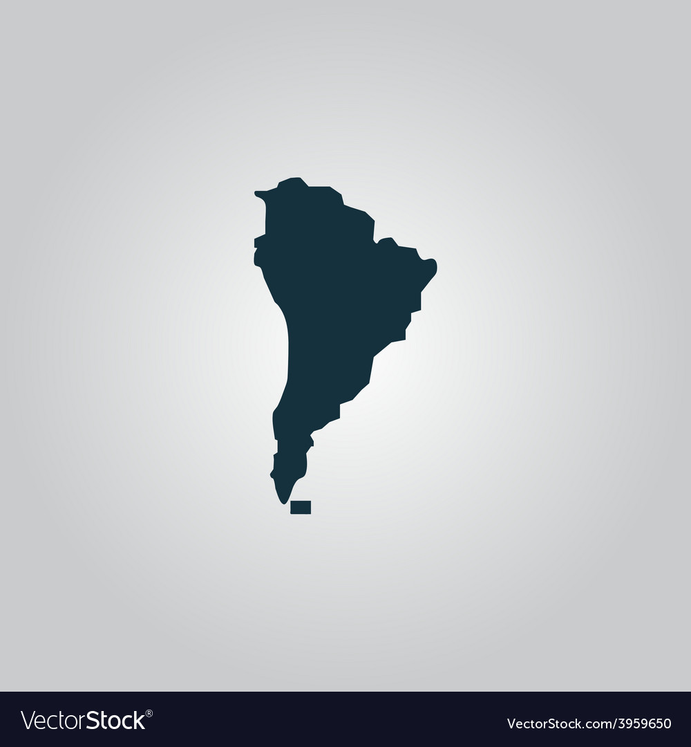 Black map of south america vector | Price: 1 Credit (USD $1)