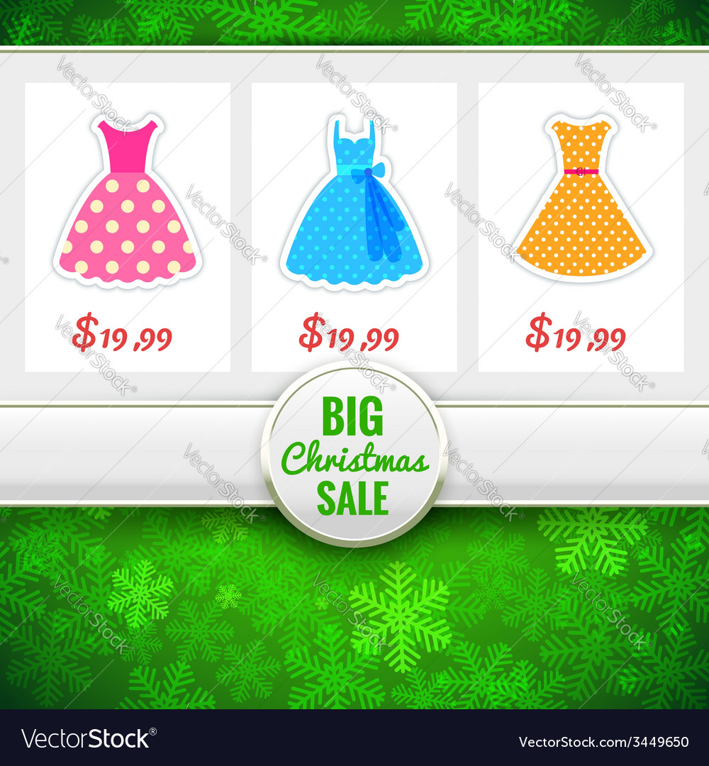 Christmas sale background vector | Price: 1 Credit (USD $1)