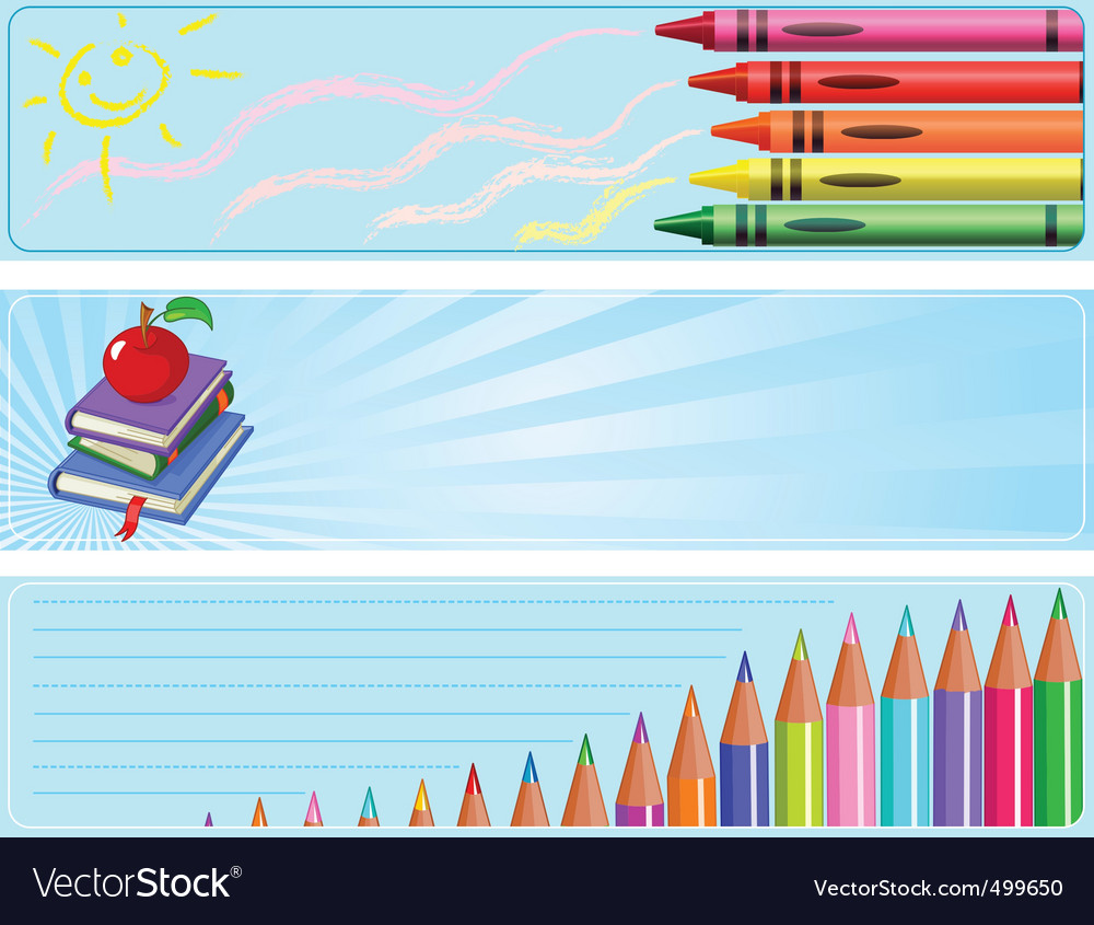 Different back to school banners vector | Price: 1 Credit (USD $1)