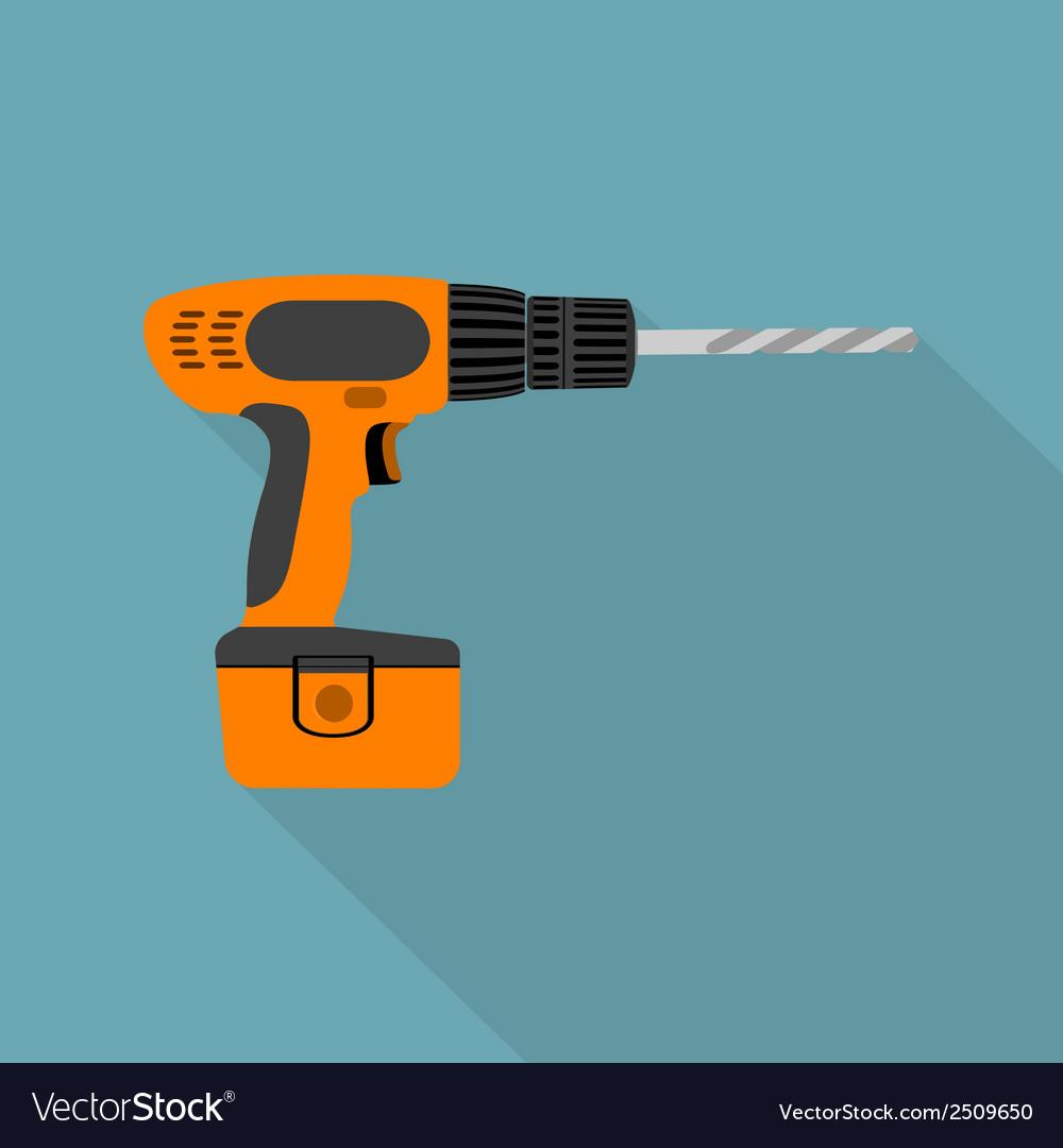 Flat screwdriver vector | Price: 1 Credit (USD $1)