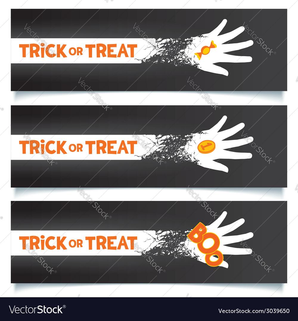 Halloween creative banners template vector | Price: 1 Credit (USD $1)