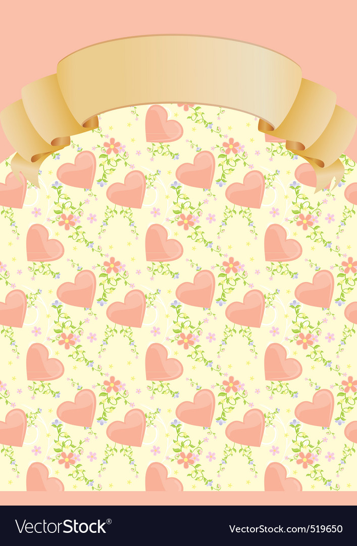 Hearts and flowers blank vector | Price: 1 Credit (USD $1)