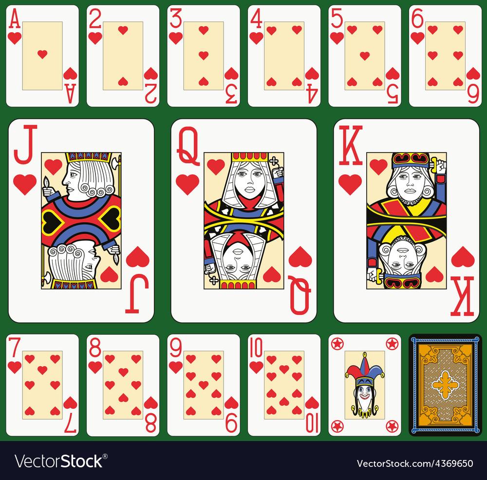Hearts suite black jack large figures vector   Price: 1 Credit (USD $1)