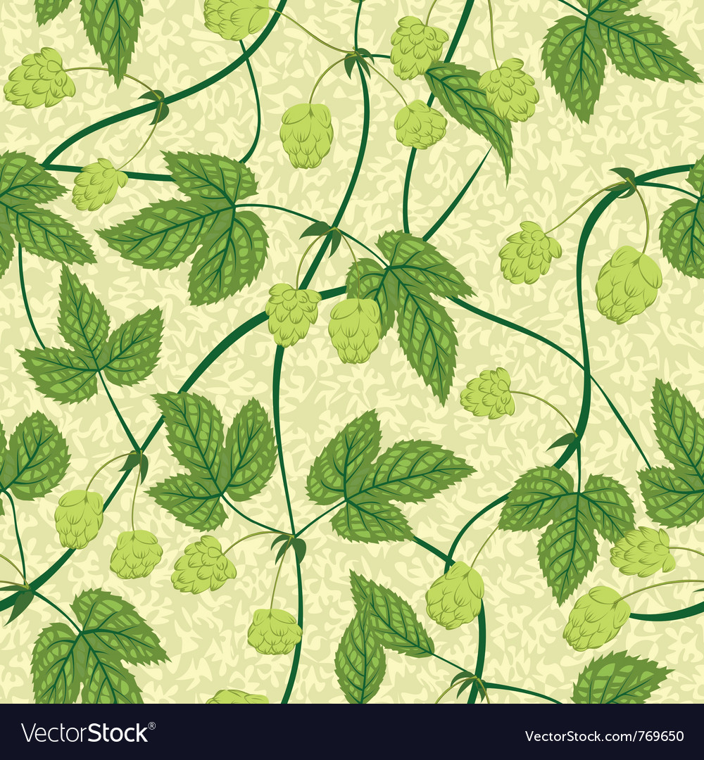 Humulus seamless background vector | Price: 1 Credit (USD $1)