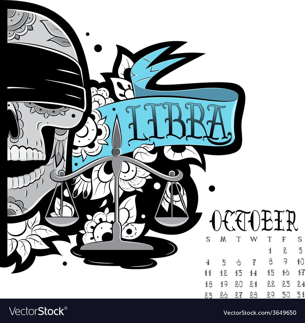 Libra tattoo vector | Price: 1 Credit (USD $1)
