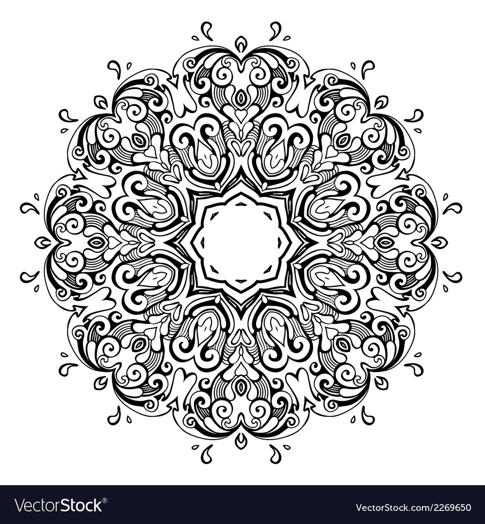Mandala indian decorative pattern vector | Price: 1 Credit (USD $1)