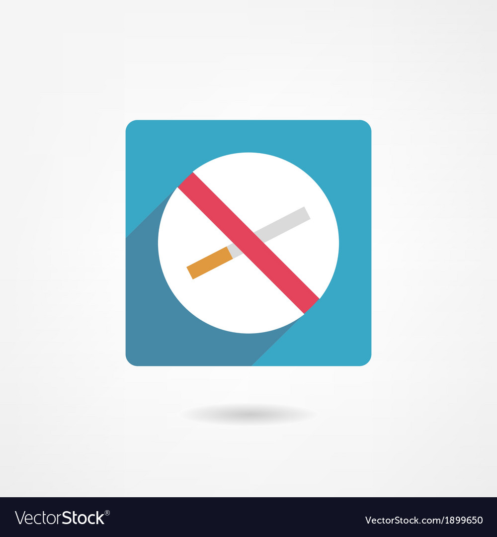 No smoking icon vector | Price: 1 Credit (USD $1)