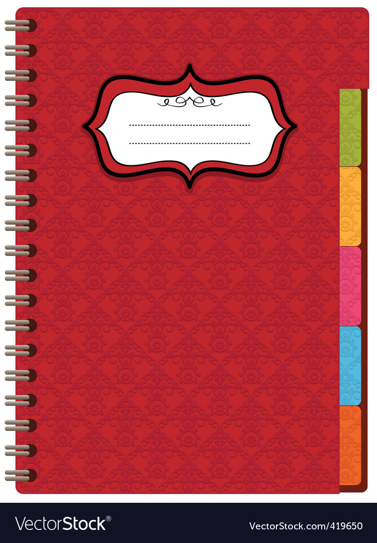 Red notebook vector   Price: 1 Credit (USD $1)