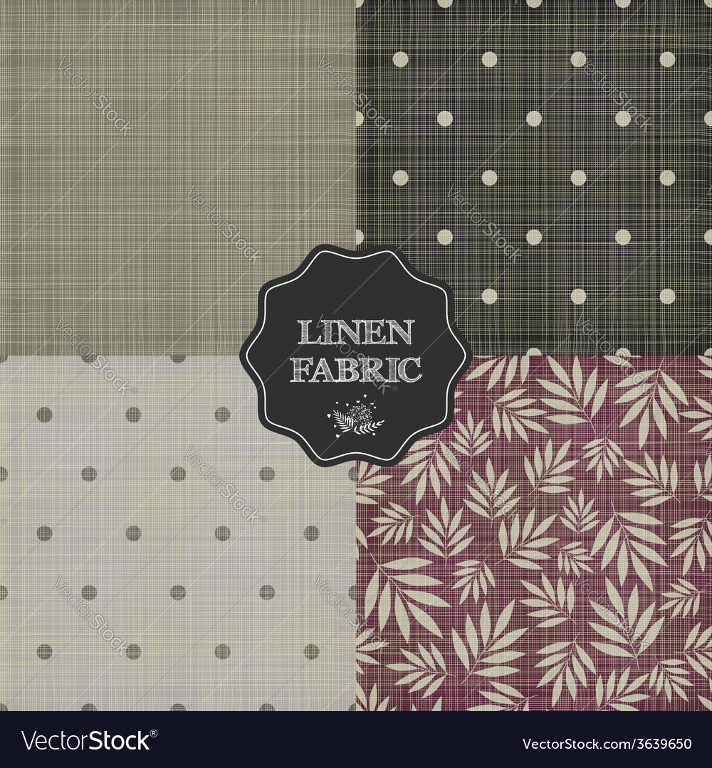 Set of for linen fabric vector | Price: 1 Credit (USD $1)