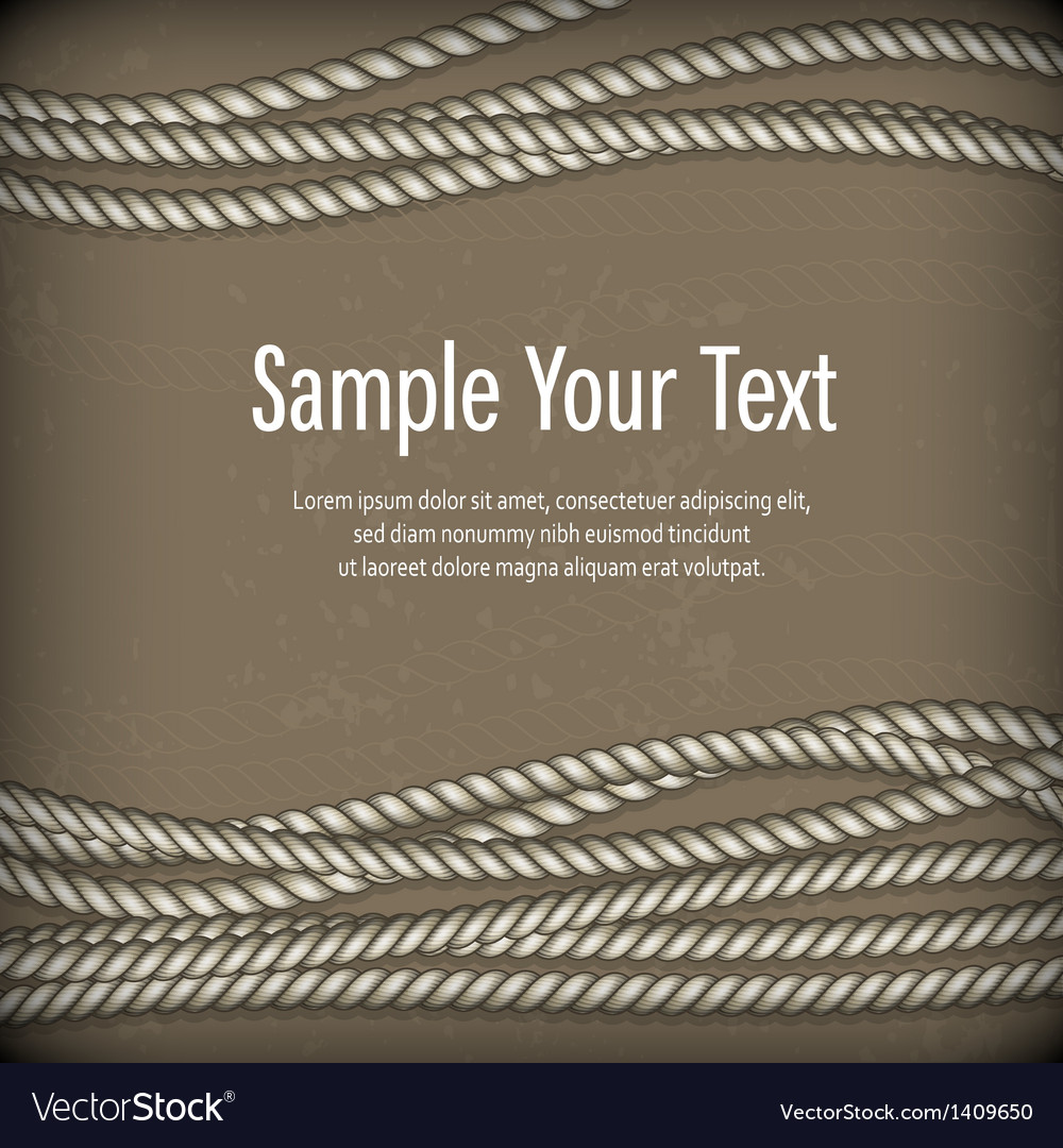 Set of ropes on brown  text vector | Price: 1 Credit (USD $1)