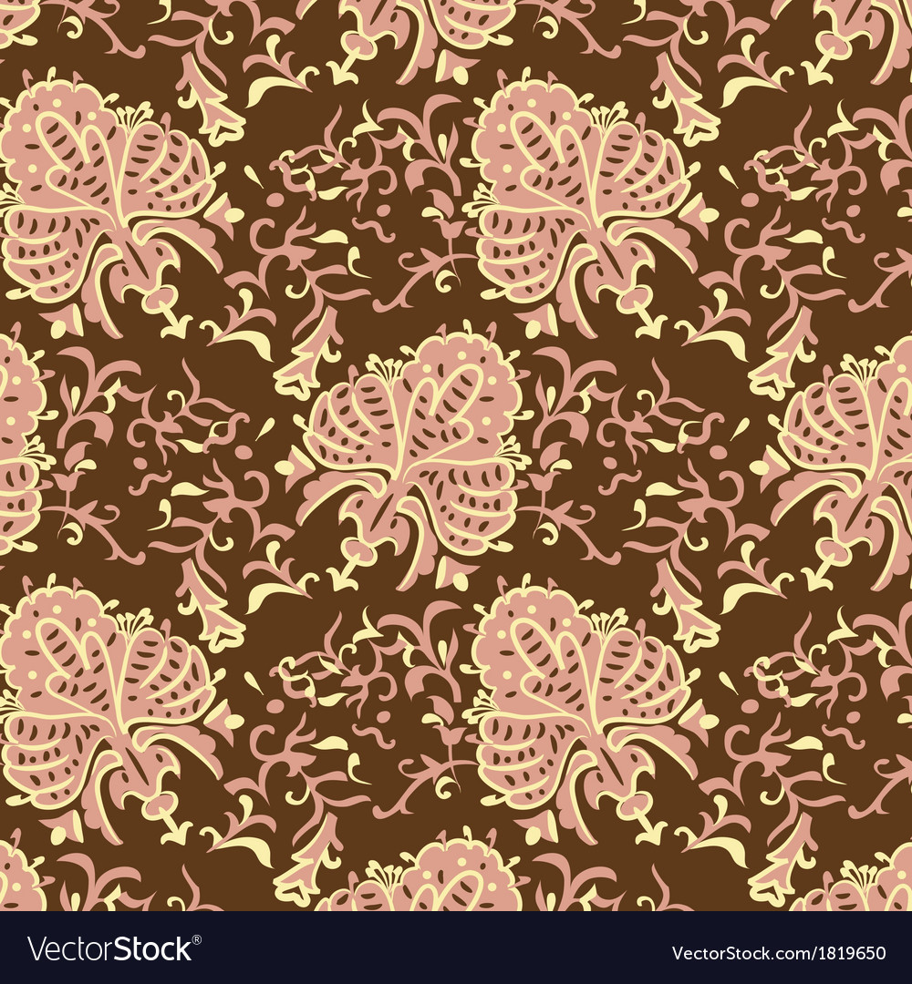 Vintage baroque seamless pattern vector | Price: 1 Credit (USD $1)