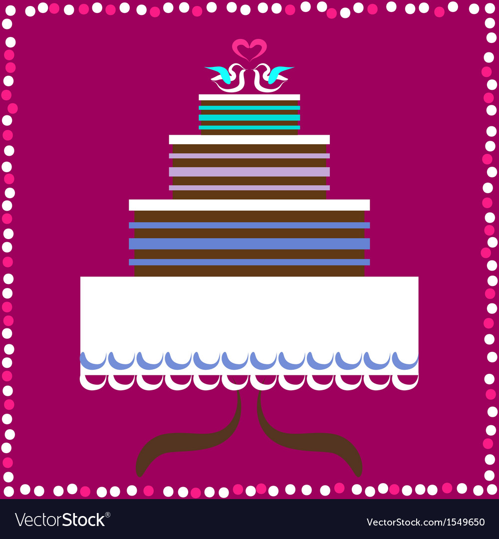 Wedding cake with doves vector | Price: 1 Credit (USD $1)