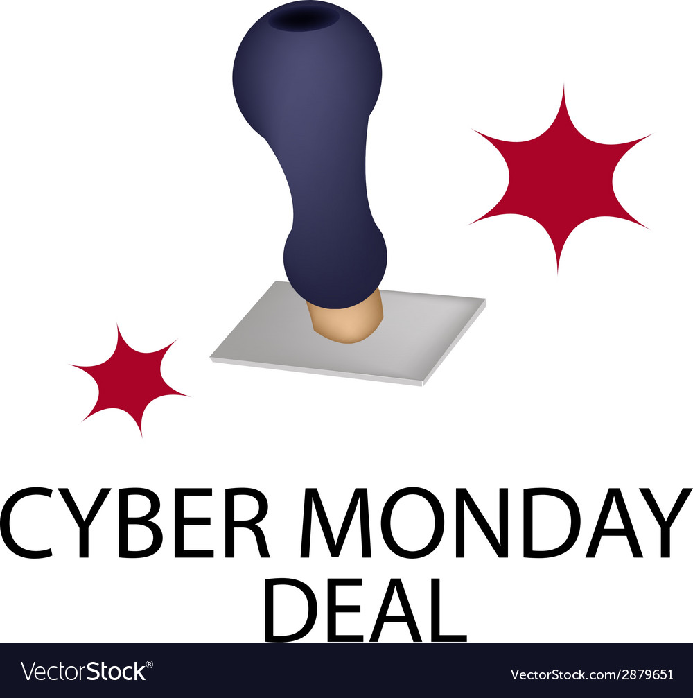 A rubber stamp with word cyber monday deal vector | Price: 1 Credit (USD $1)
