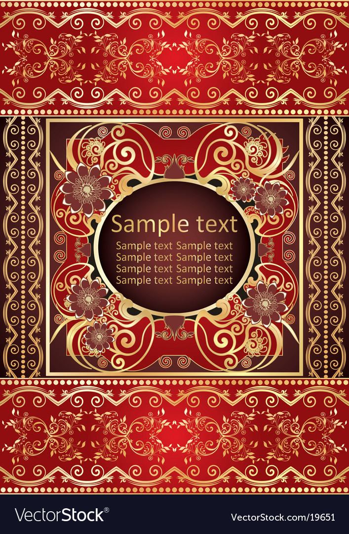 Background from beautiful gold pattern vector | Price: 1 Credit (USD $1)