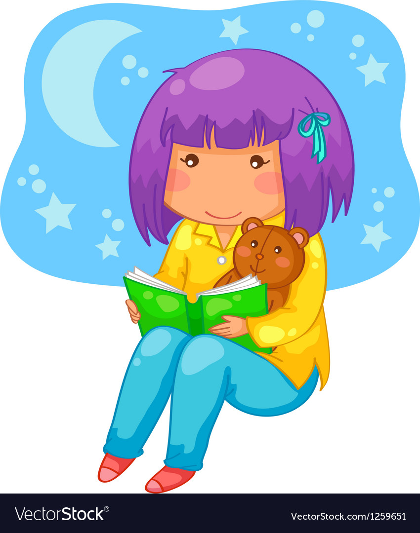 Bedtime story vector | Price: 3 Credit (USD $3)