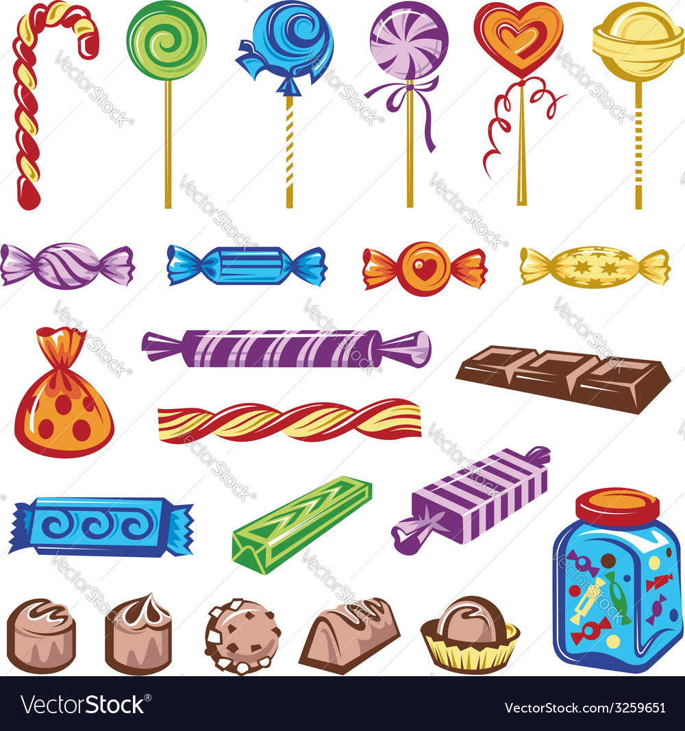 Candies set vector | Price: 3 Credit (USD $3)