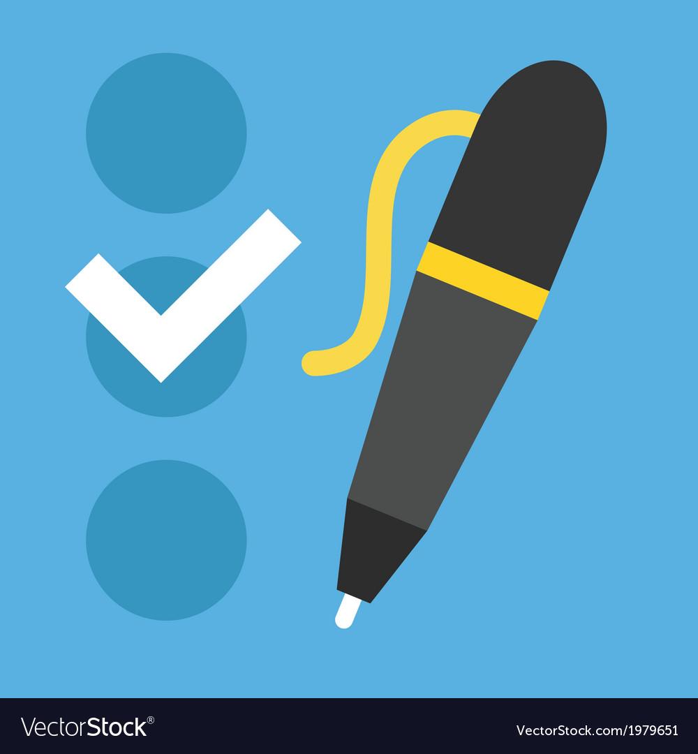 Checklist and pen icon vector | Price: 1 Credit (USD $1)