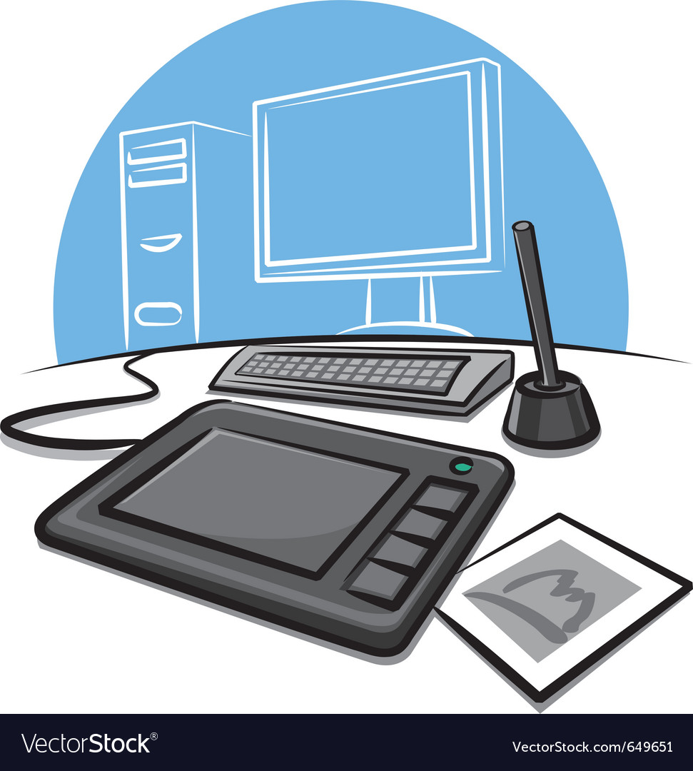 Digital graphic tablet vector | Price: 3 Credit (USD $3)