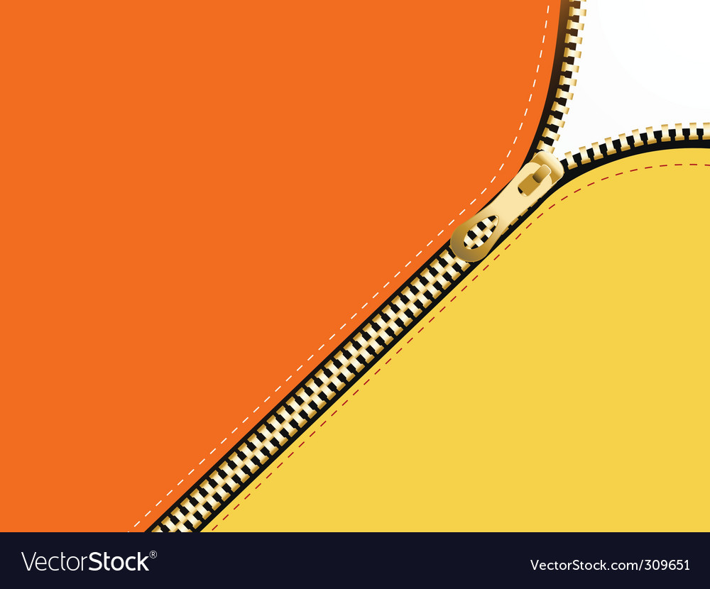 Golden zipper vector | Price: 1 Credit (USD $1)