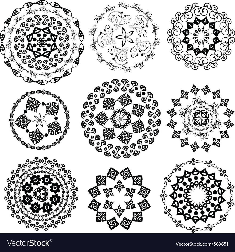 Set oriental arabesque vector | Price: 1 Credit (USD $1)