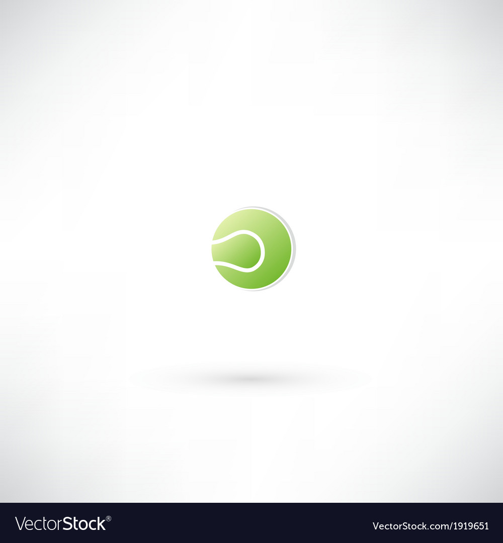 Tennis ball icon vector | Price: 1 Credit (USD $1)