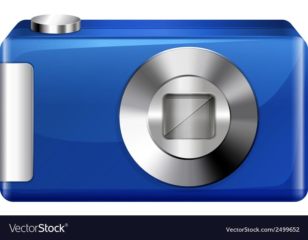 A blue digital camera vector | Price: 1 Credit (USD $1)