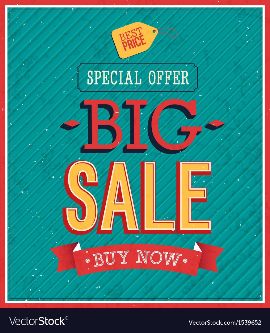 Big sale typographic design vector   Price: 1 Credit (USD $1)