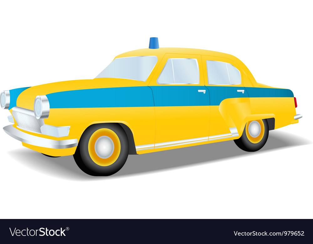 Classic police car of the ussr vector | Price: 3 Credit (USD $3)