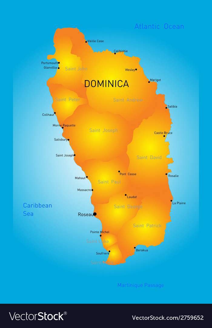 Dominica vector | Price: 1 Credit (USD $1)