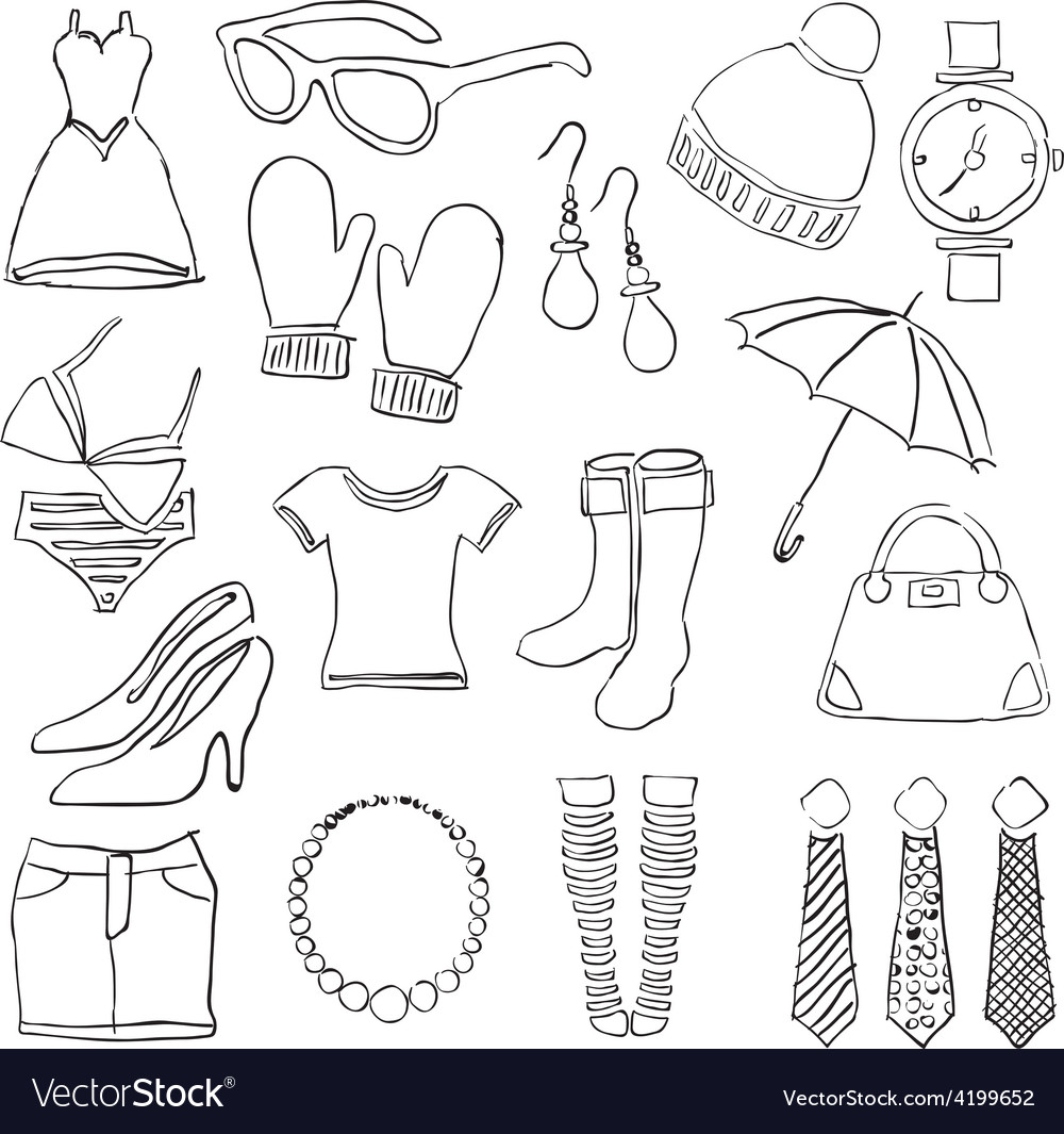 Doodle fashion images vector   Price: 1 Credit (USD $1)