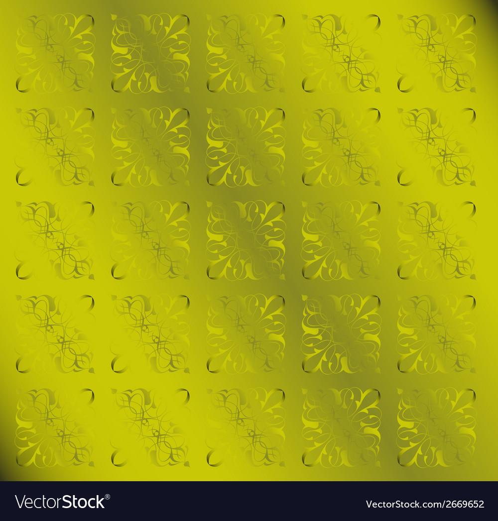 Green floral pattern vintage background vector | Price: 1 Credit (USD $1)