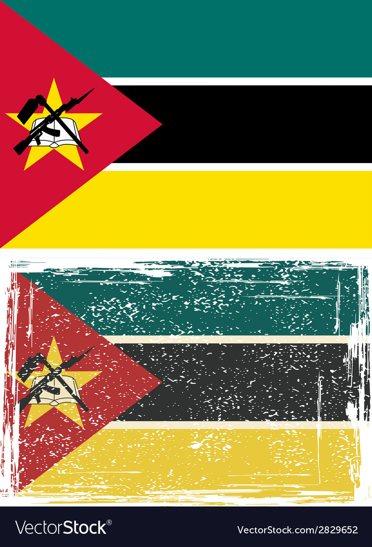 Mozambique grunge flag  grunge effect can be vector | Price: 1 Credit (USD $1)