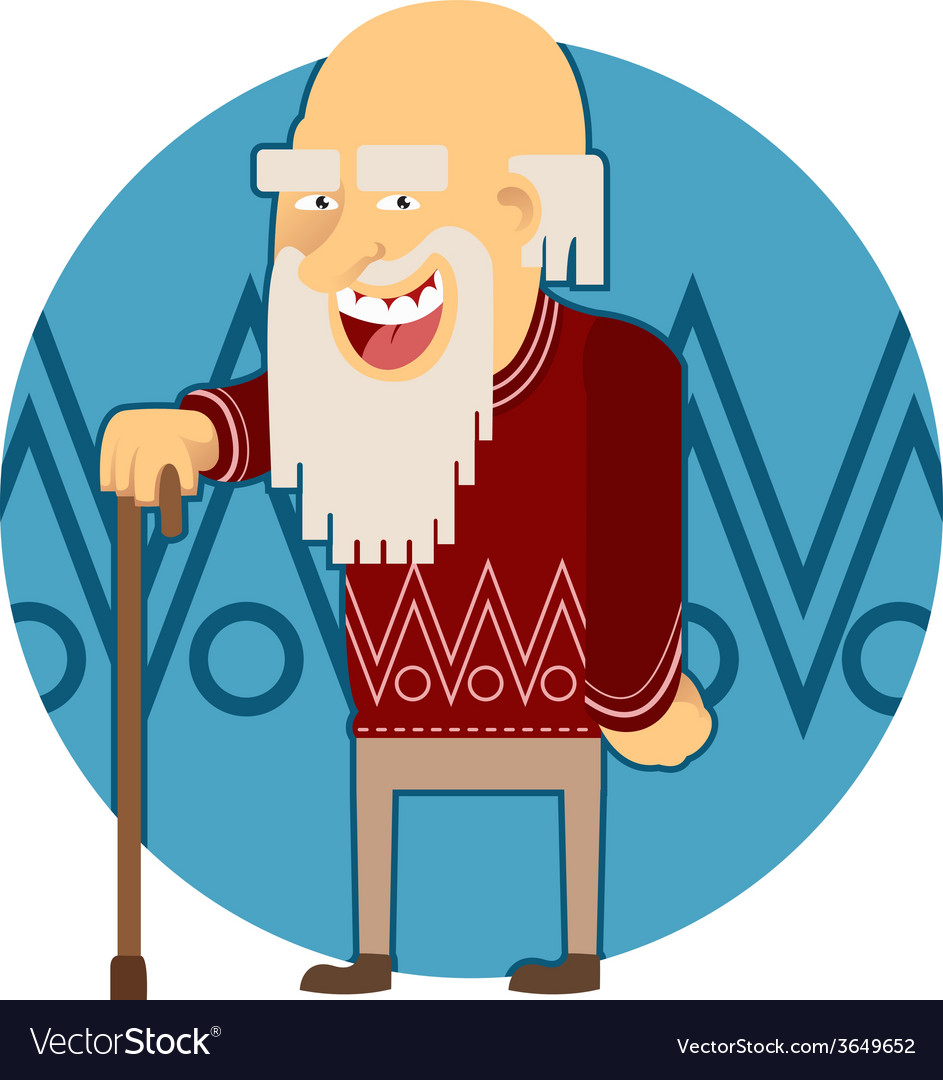 Old man vector | Price: 1 Credit (USD $1)