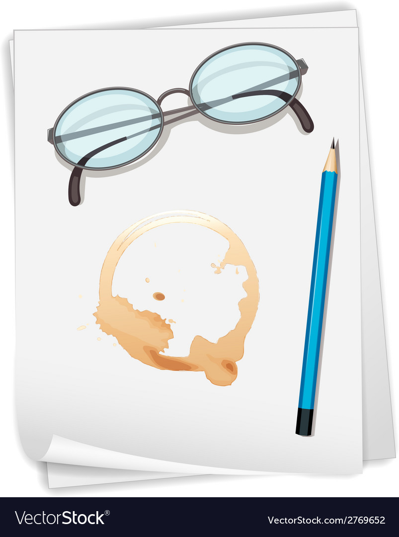 Paper and coffee stain vector | Price: 1 Credit (USD $1)
