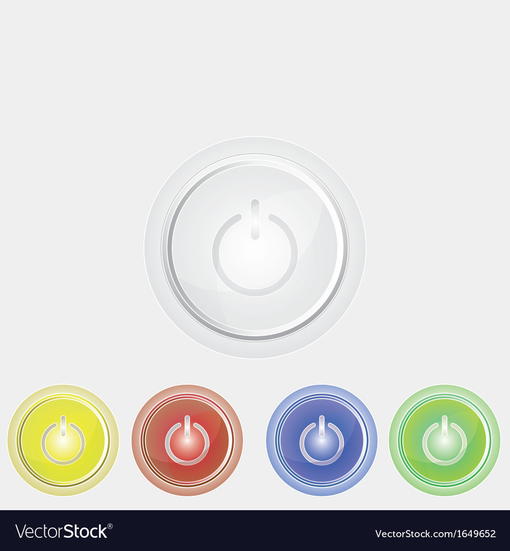 Power button icon vector | Price: 1 Credit (USD $1)
