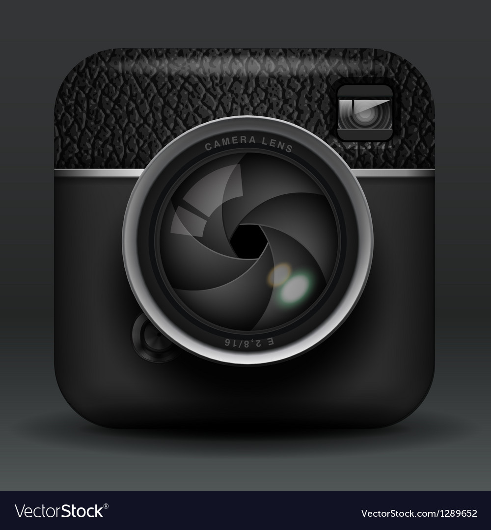 Professional photo camera icon vector | Price: 5 Credit (USD $5)