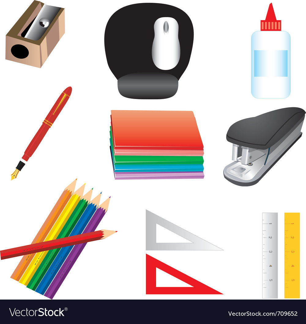 School or office supplies vector   Price: 1 Credit (USD $1)