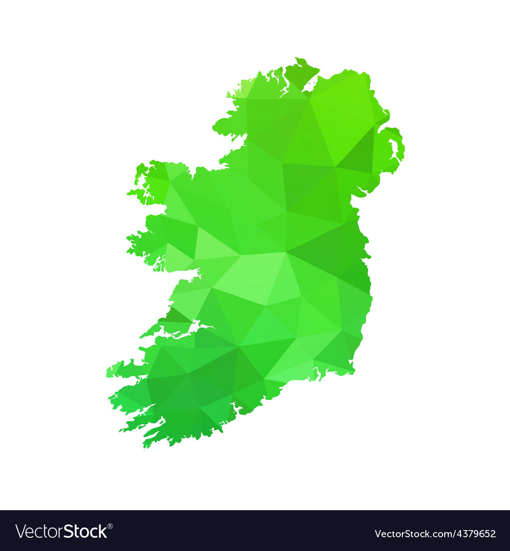 Silhouette of ireland on map vector | Price: 1 Credit (USD $1)
