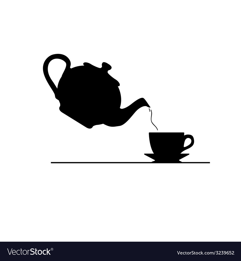 Tea icon silhouette vector | Price: 1 Credit (USD $1)
