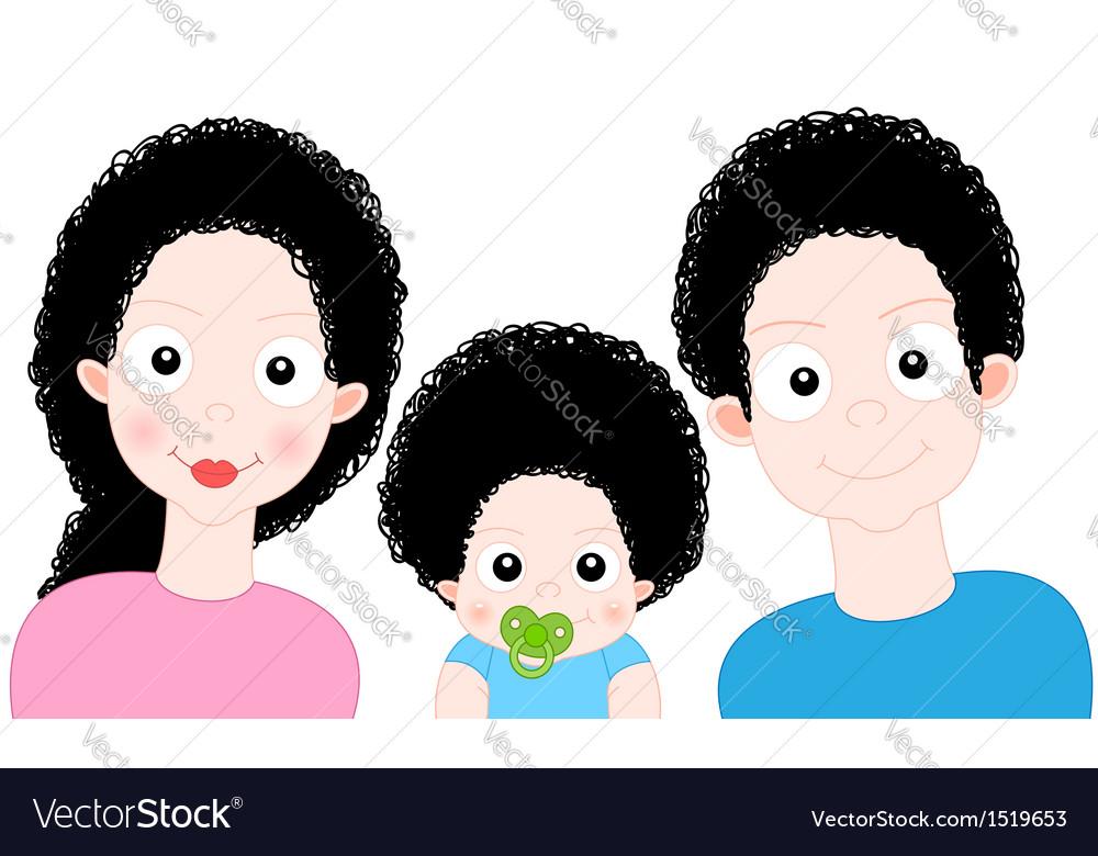 Cartoon sweet family vector   Price: 1 Credit (USD $1)