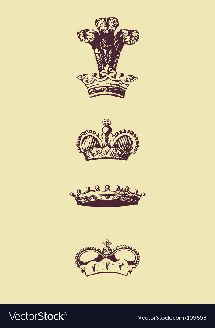 Crowns vector | Price: 1 Credit (USD $1)