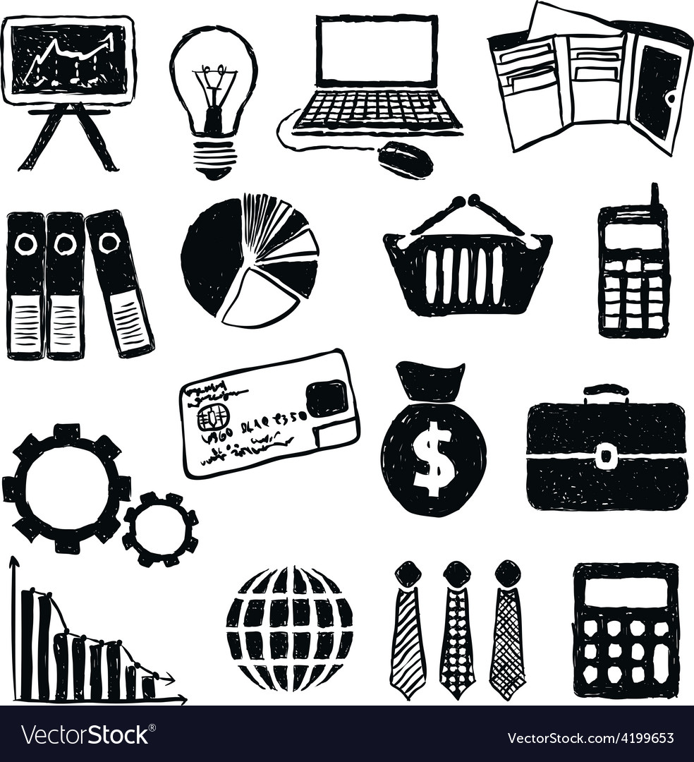 Doodle finance images vector | Price: 1 Credit (USD $1)